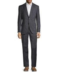BOSS by HUGO BOSS Johnstons & Lenon Virgin Wool Suit - Blue