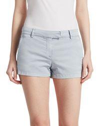 Theory Bennie Cotton Shorts - Blue
