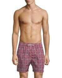 Ferragamo Sailboat Swim Shorts - Red