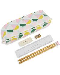 Kate Spade Geometric-print 6-piece Stationery & Pencil Case Set - Multicolour