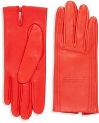 Hermès Red Lambskin Gloves