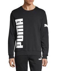 PUMA Big Logo Pullover Sweatshirt - Black