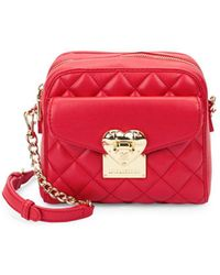 Love Moschino - Quilted Faux Leather Crossbody Bag - Lyst