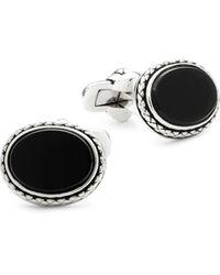 Effy Embellished Cufflinks - Black