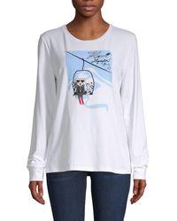 Karl Lagerfeld Ski Lift Logo Graphic T-shirt - White