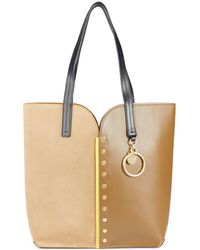 See By Chloé Gaia Leather Tote - Natural