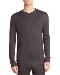 Hanro - Lorenzo Solid Ribbed Pullover - Lyst