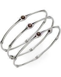 John Hardy - Set Of Three Smoky Quartz & Sterling Silver Bracelets - Lyst