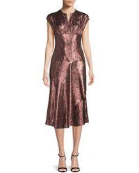 Lanvin - Metallic Sheath Dress - Lyst