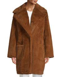 Pure Navy - Oversized Plush Teddy Coat - Lyst