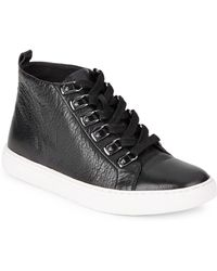 Kenneth Cole - Kale Leather Hi-top Trainers - Lyst
