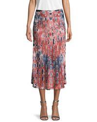 Young Fabulous & Broke Women's Tie-dye Midi Skirt - Wine Multi - Size Xs - Red