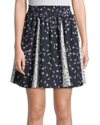 French Connection - Floral Komo Drape Skirt - Lyst