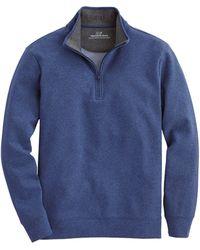 Vineyard Vines Blank Saltwater Zip Sweatshirt - Blue