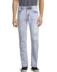 Buffalo David Bitton Ash Distressed Skinny Jeans - Blue