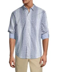 Tommy Bahama The Marlin Bar Regular-fit Print Silk Shirt - Blue