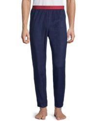 Calvin Klein Men's Logo-waist Pyjama Pants - Navy - Size L - Blue