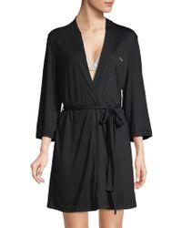 Calvin Klein - Belted Wrap Robe - Lyst