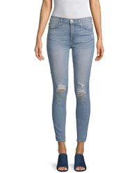 Hudson Jeans - Distressed High-waisted Jeans - Lyst