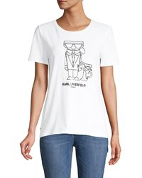 Karl Lagerfeld Karl & Choupette Graphic T-shirt - Red
