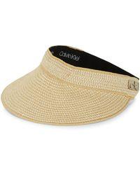 Calvin Klein Visor Hat - Natural