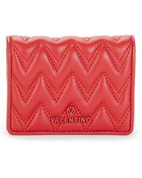 Valentino By Mario Valentino Nero Sauvage Bi-fold Leather Wallet - Red