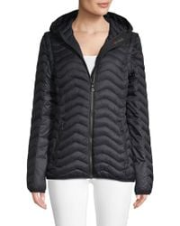 75d9dabe688 Mackage Qeren Leather-trim Zip-off Convertible Puffer Jacketvest in Blue -  Lyst