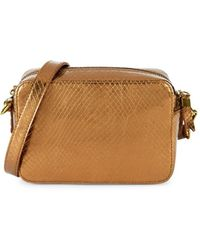 Madewell Transport Snake-embossed Leather Camera Bag - Brown