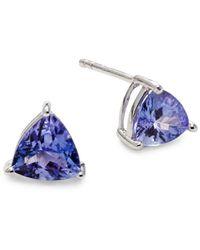 Effy Women's Sterling Silver Tanzanite Triangle Stud Earrings - Blue