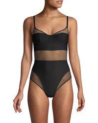 DKNY Soft Tech Mesh Bodysuit - Black