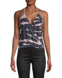 Young Fabulous & Broke Women's Naomi Abstract-print Top - Ink Multi - Size L - Blue
