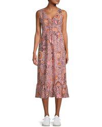 Madewell Floral Midi Dress - Pink