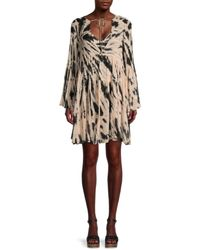 Young Fabulous & Broke Women's Rosa Abstract-print Mini Dress - Black - Size L