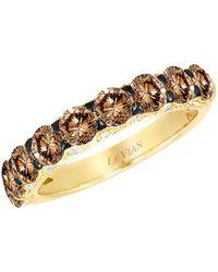 Le Vian Chocolatier® 14k Honey Goldtm, Chocolate Diamond® & Vanilla Diamond® Ring - Metallic
