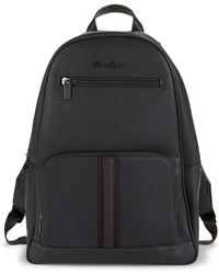 Robert Graham Logo Faux Leather Backpack - Gray