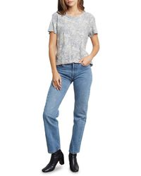 Rails Women's Asher Snakeskin-print T-shirt - Ivory Snake - Size Xs - Blue