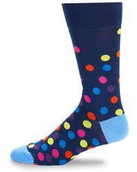 Bugatchi - Polka Dot Crew Socks - Lyst
