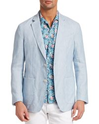 Saks Fifth Avenue Collection Linen Sportcoat - Blue
