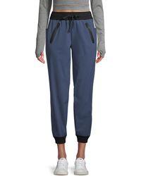 BLANC NOIR Cropped Jooger Pants - Blue