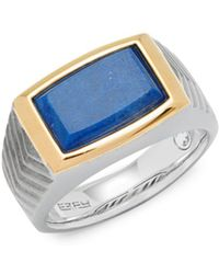 Effy - Blue Lapis And Sterling Silver Band Ring - Lyst