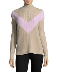 Zoe Jordan Graham Chevron Sweater - Brown