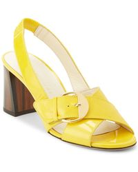 Bettye Muller - Pepper Patent Leather Slingback Sandals - Lyst