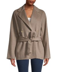 Vince Belted Wool-blend Cardigan Coat - Multicolour