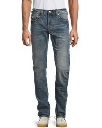 True Religion Men's Rocco Flap Big T Relaxed Skinny-fit Jeans - Blue - Size 40