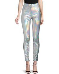Balmain Iridescent Skinny Jeans - Metallic