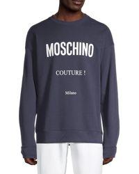 Moschino ! Logo Sweatshirt - Blue