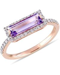 Saks Fifth Avenue 14k Rose Gold, Amethyst & Diamond Ring - Multicolour