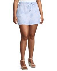 Marc New York Plus Tie-dye Shorts - Blue