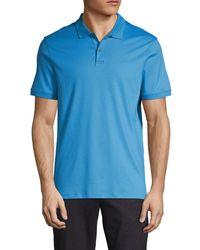 Calvin Klein Liquid Touch Cotton Polo - Blue