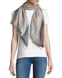 La Fiorentina - Striped Cotton-blend Scarf - Lyst